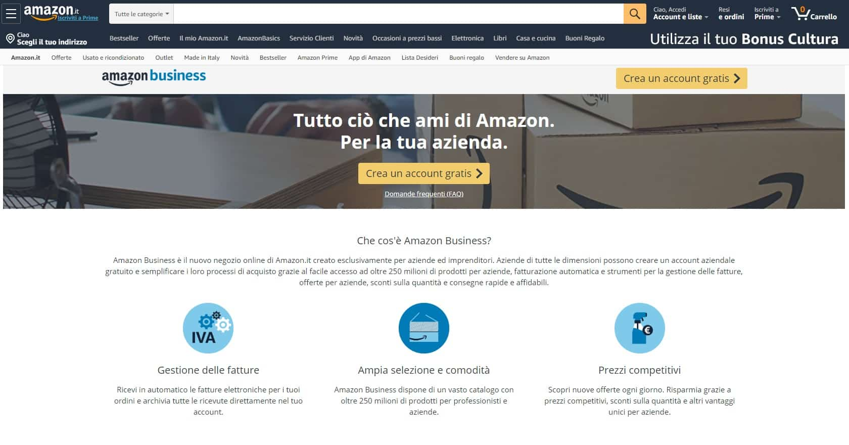Come registrarsi e creare un account su Amazon Business