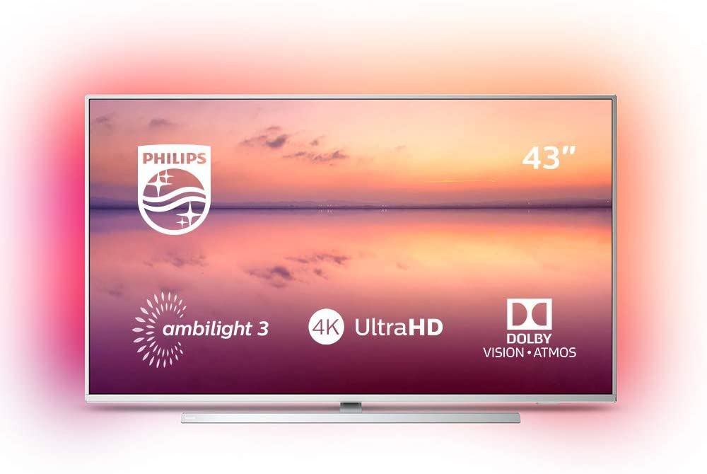 """Opinioni recensione Philips 6800 series 43PUS6814/12 43"""" 4K UHD Smart TV, Amazon Alexa built-in, Ambilight, HDR 10+, Dolby Vision, Dolby Atmos"""