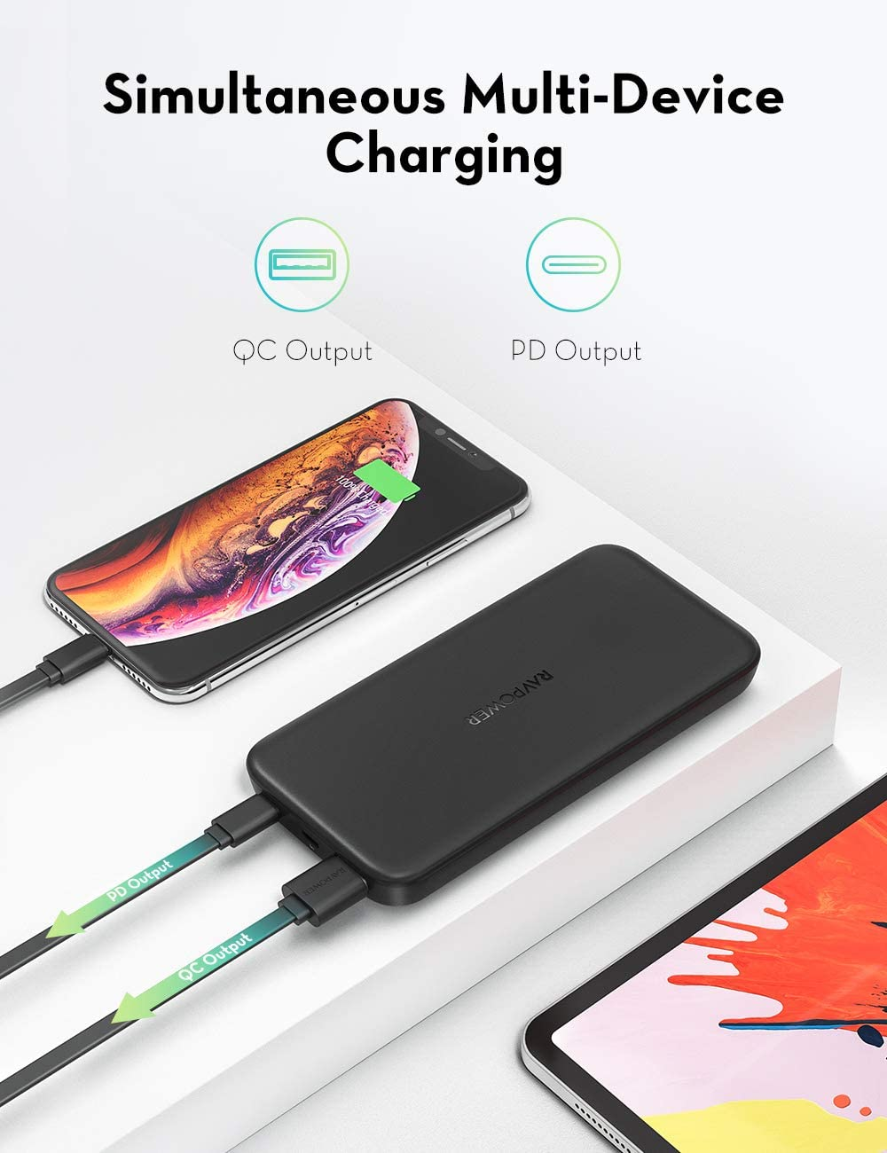 Opinioni miglior prezzo recensione RAVPOWER USB C Power Bank 10000mAh Caricabatterie Portatile con Power Delivery 18W, Quick Charge 3.0 Powerbank 10000 mAh